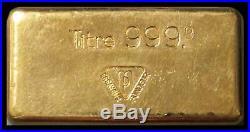 100 GRAMS GOLD SOCIETI DE BANQUE SUISSE 3.125ozs 999.9 FINE INGOT /BAR