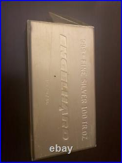 100 Troy oz Silver Bar Engelhard Rare Vintage 999+ fine