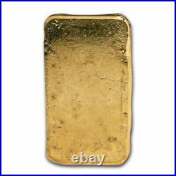 100 gram Cast-Poured Gold Bar 9Fine Mint SKU#211316