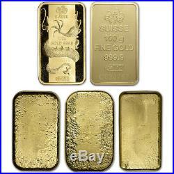 100 gram Gold Bar Random Brand Secondary Market 999.9 Fine
