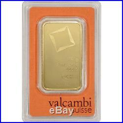 100 gram Gold Bar Valcambi Suisse 999.9 Fine in Sealed Assay