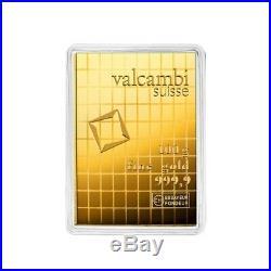 100 x 1 gram Gold Valcambi CombiBar. 9999 Fine (In Assay)