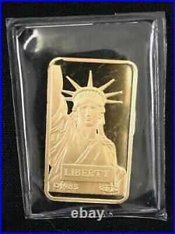 10 Gram Gold Bar Credit Suisse Statue Of Liberty. 9999 Fine Gold Sealed #2
