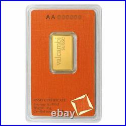 10 Gram Valcambi. 9999 Fine Gold Bar in Assay