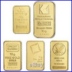 10 gram Gold Bar Random Brand Secondary Market 999.9 Fine