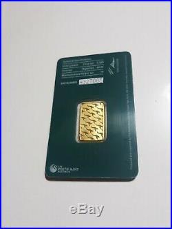 10 gram Gold Bar -The Perth Mint Australia 99.99% Fine -Tamper Proof Assay Card