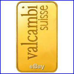 10 gram Gold Bar Valcambi Suisse. 9999 Fine (In Assay)