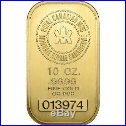 10 oz Gold Bar Royal Canadian Mint Secondary Market. 9999 Fine