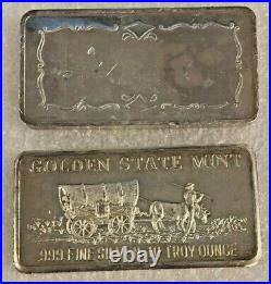 10 oz. Golden State Mint. 999 fine silver bar