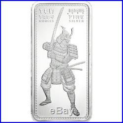 10 oz. Golden State Mint Silver Bar Samurai. 999 Fine