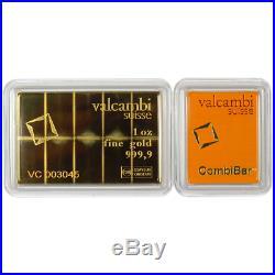 10 x 1/10 oz Valcambi Suisse. 9999 Fine Gold CombiBar 1 Troy oz