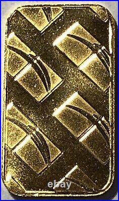 1/10 Oz. 9999 Fine Gold Ntr Bar, In Apmex Plastic Flip, Gem Bu