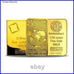 1/10 oz Generic Gold Bar. 999+ Fine (Secondary Market)