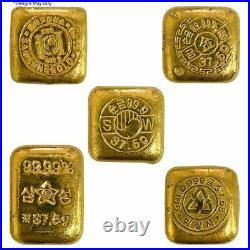 1.2057 oz 1 Tael Gold Biscuit Bar. 999+ Fine Gold (Random Design)