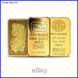 1/2 oz Generic Gold Bar. 999+ Fine (Secondary Market)