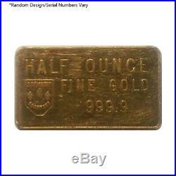 1/2 oz Swiss Bank Corporation Gold Bar. 9999 Fine