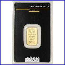 1/4 oz Gold Bar Argor Heraeus 999.9 Fine in Assay