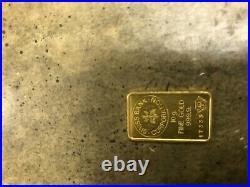 (1) Credit Suisse 10 Gram Fine Gold Bar 999.9 24k #714351