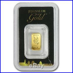 1 Gram Israel Holy Land Mint Dove Solid Fine 999.9 Gold Bullion Bar Sealed