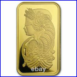 1 Ounce Gold Bar Pamp Suisse Lady Fortuna Veriscan. 999 Fine Gold