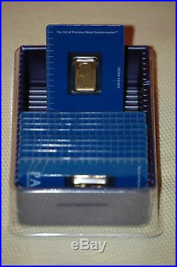 (1) Pamp Suisse Or Credit Suisse 1 Oz. Fine. 999 Gold Bar
