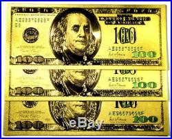 1 Troy Ounce. 999 Fine Silver Buffalo Bar Bu + 1 99.9% 24k Gold $100 Bill