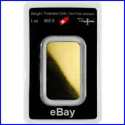 1 Troy oz Argor Heraeus Gold Bar. 9999 Fine in Assay