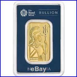 1 Troy oz U. K. Royal Mint Britannia Gold Bar. 9999 Fine in Assay