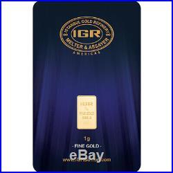1 gram IGR Gold Bar Istanbul Gold Refinery 999.9 Fine in Sealed Assay