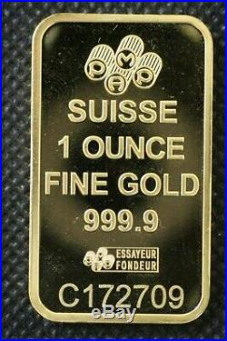 1 oz. 9999 Fine Gold Bar PAMP Suisse Lady Fortuna (Out of Assay)