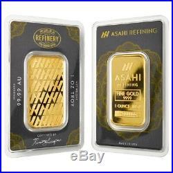 1 oz Asahi Gold Bar. 9999 Fine (In Assay)