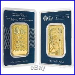 1 oz Britannia Gold Bar. 9999 Fine (In Assay)