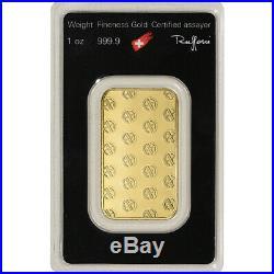 1 oz. Gold Bar Argor Heraeus 999.9 Fine in Assay