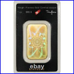 1 oz. Gold Bar Argor Heraeus Kinebar Hologram 999.9 Fine in Assay
