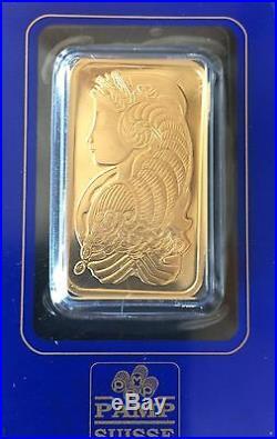 1 oz. Gold Bar PAMP Suisse Lady Fortuna. 9999 Fine