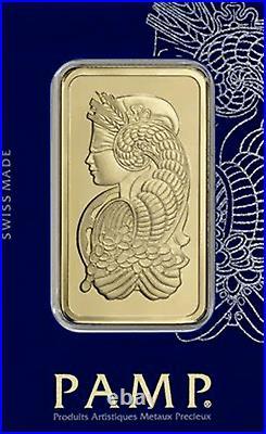 1 oz Gold Bar PAMP Suisse Lady Fortuna (In Assay) 999.9 Fine