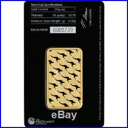 1 oz. Gold Bar Perth Mint 99.99 Fine in Assay