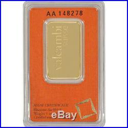 1 oz. Gold Bar Valcambi Suisse 999.9 Fine in Assay