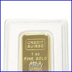 1 oz Gold Credit Suisse Bar. 9999 Fine Sealed In Assay
