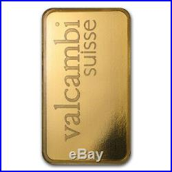 1 oz Gold Valcambi Bar In Assay. 9999 Fine SKU #88352