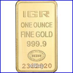 1 oz. IGR Gold Bar Istanbul Gold Refinery 999.9 Fine in Sealed Assay