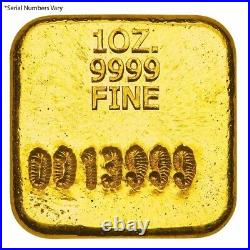 1 oz Perth Mint Cast Gold Button Bar Serial Number Limited Edition. 9999 Fine