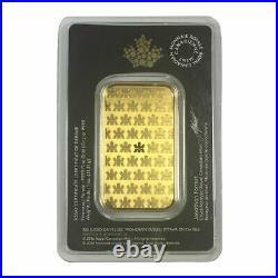 1 oz Royal Canadian Mint Gold Bar In Assay Card. 9999 Fine Gold