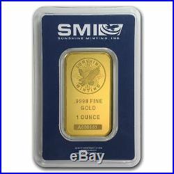 1 oz Sunshine Mint Gold Bar. 9999 Fine Gold