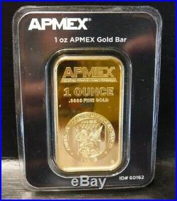1oz APMEX. 9999 Fine Gold Bar Sealed