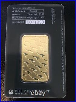 1oz Perth Mint Gold Bar 99.99 Fine in Assay
