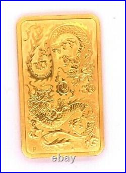 2020 Elizabeth II, Australian 1 Ounce. 9999 Fine Gold Dragon BU