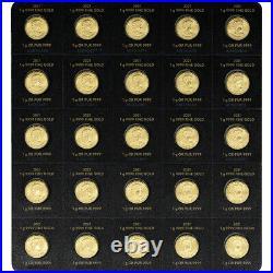 2021 25x1 gram Gold Maplegram25 RCM Royal Canadian Mint. 9999 Fine in Assay