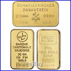 20 gram Gold Bar Random Brand Secondary Market 999.9 Fine