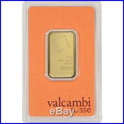 20 gram Gold Bar Valcambi Suisse 999.9 Fine in Sealed Assay